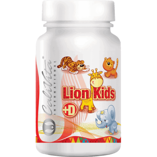 Lion Kids + Vitamin D (90 tablete masticabile)