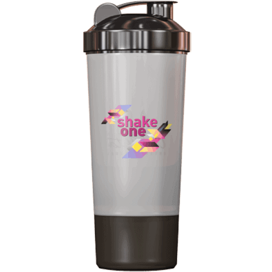 One Diet Shaker – negru 350 ml