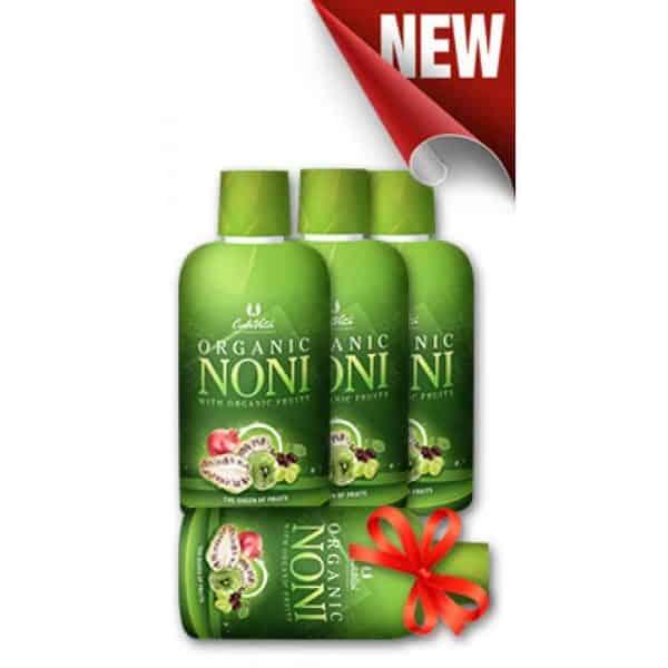 Pachet Organic Noni NOU (3+1)